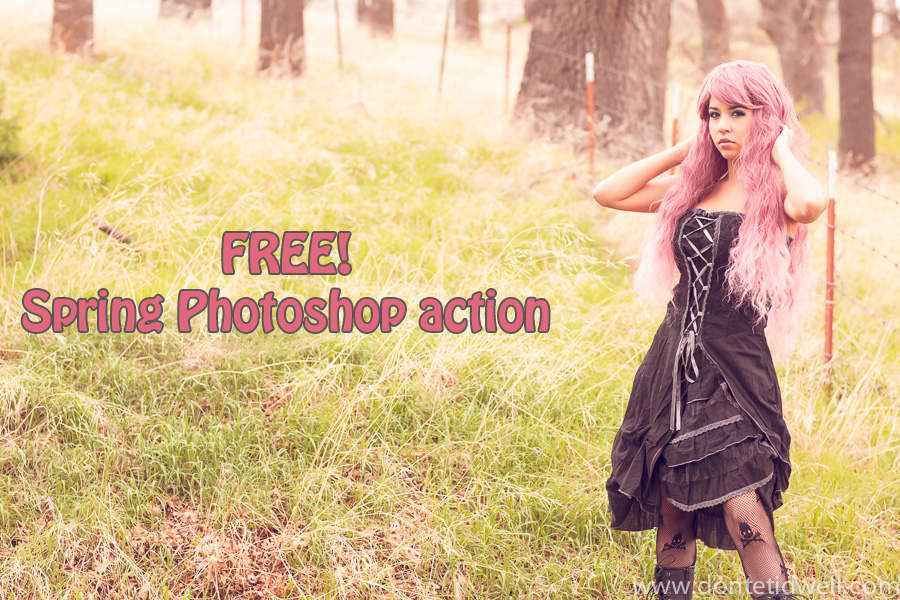 photoshop action giveaway before after