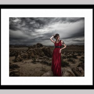 The Red Queen framed black 74