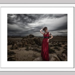 The Red Queen framed white 74