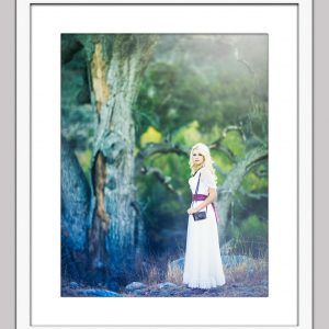 secret garden 128 framed white