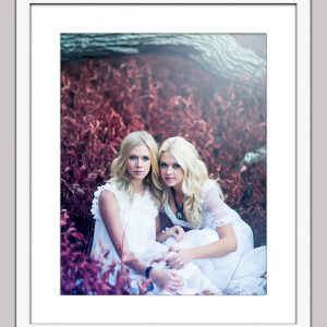 secret garden 298 framed white