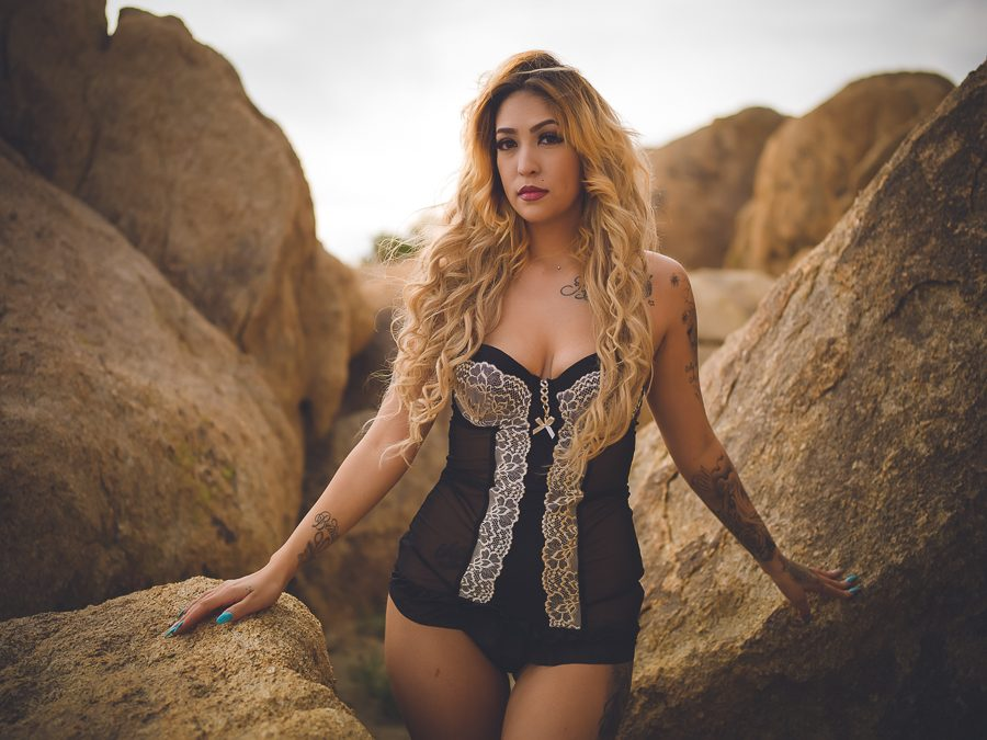 desert outdoor boudoir