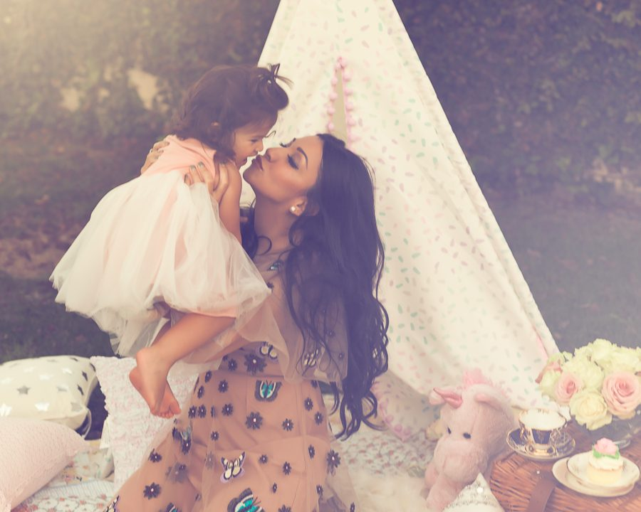 Outdoor Mother and Daughter Tea Party